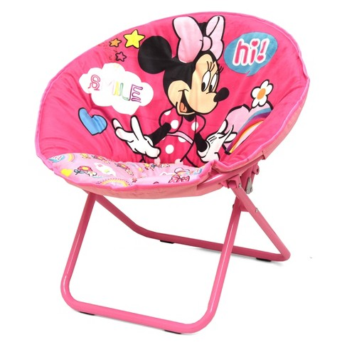 Minnie Mouse Kids Saucer Chair Pink - Disney - image 1 of 2