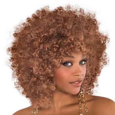 Adult Wig Runway Fro Caramel Accessory Halloween Costume