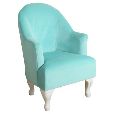 Perfect Diva Juvenile Accent Chair Kids Upholstered Chair Aqua   Homepop