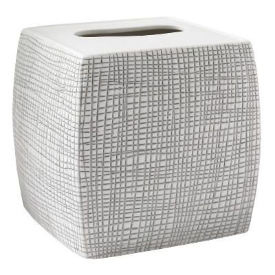 Cestino Tissue Holder Gray/White - Cassadecor