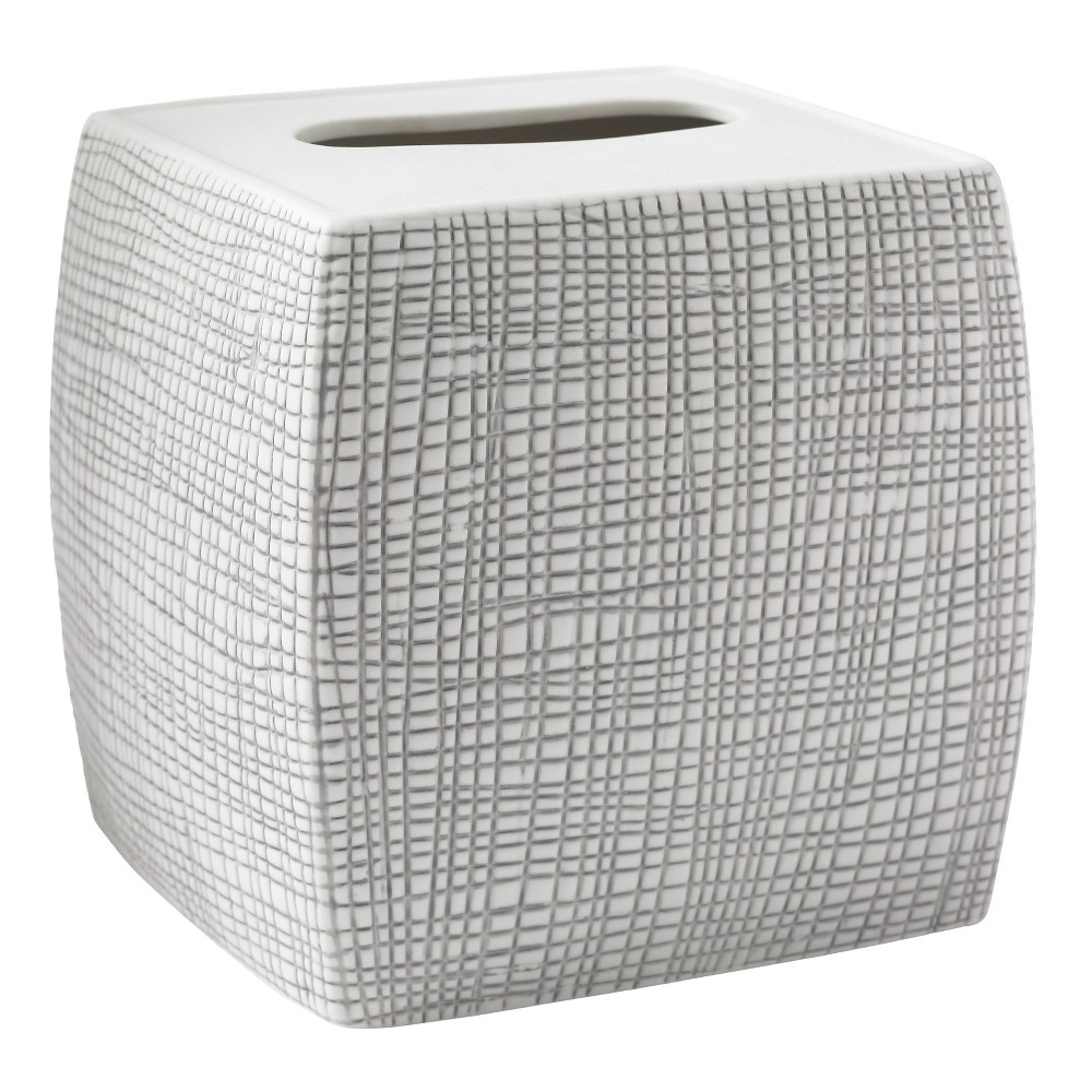 Image of Cestino Tissue Holder Gray/White - Cassadecor