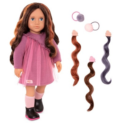 """Our Generation 18"""" Hair Play Doll with Clip-in Hair Accessories - Bridget"""