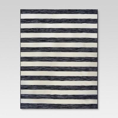 Worn Stripe Black Outdoor Rug - 6'x9' - Threshold™