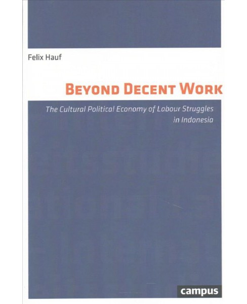 Beyond Decent Work : The Cultural Political Economy of Labour Struggles in Indonesia (Paperback) (Felix - image 1 of 1