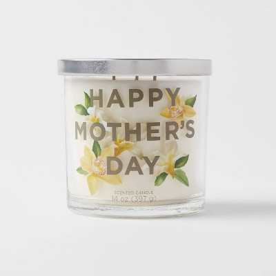 14oz Glass Jar 3-Wick Happy Mothers Day Candle - Opalhouse™