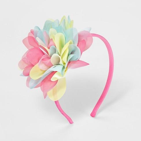 Girls  Ombre Chiffon Flower Headband - Cat   Jack™ Pink   Target bcb7b152856