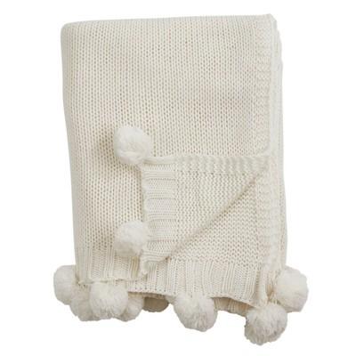 Knitted Pom Pom Throw Blanket - Saro Lifestyle : Target