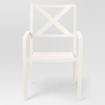 Afton X-back Patio Dining Chair - White - Threshold™