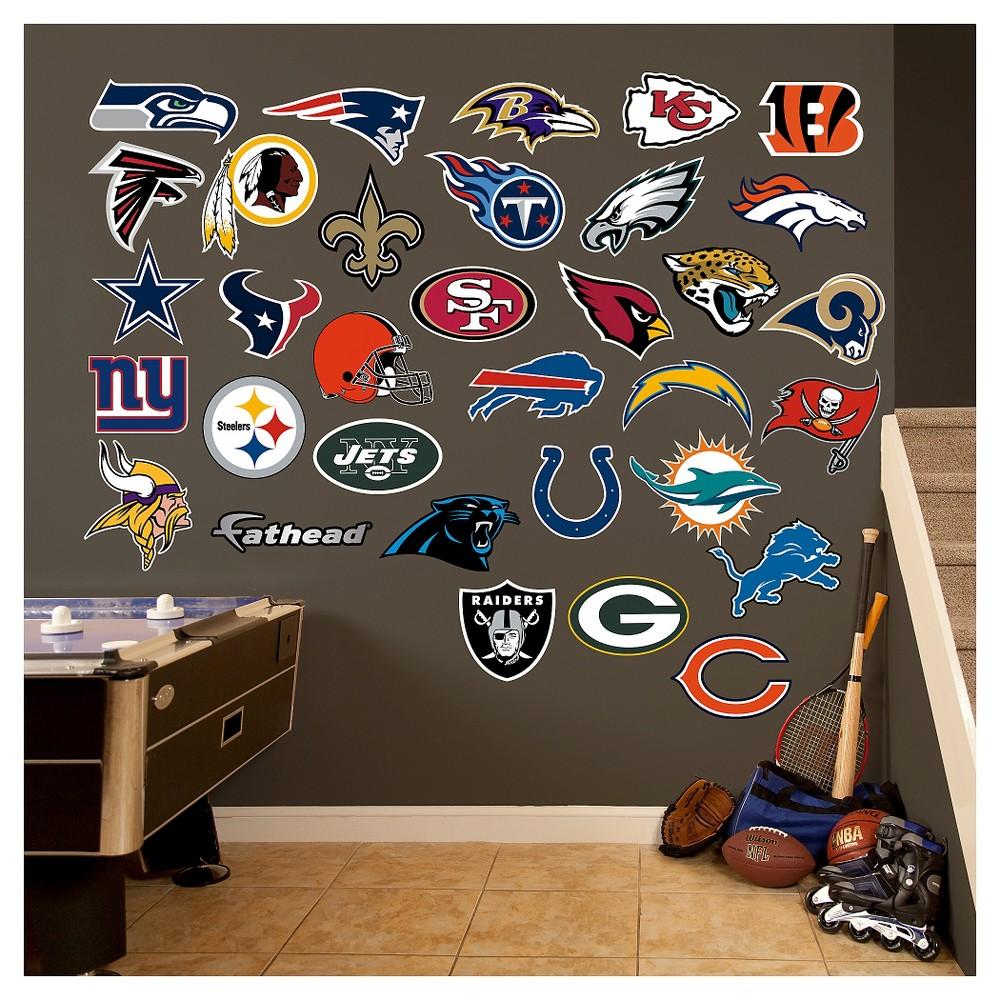 NFL All Team Logo Fathead Wall Decal Set, Multi-Colored