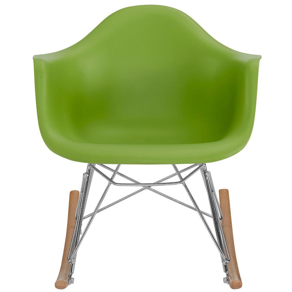 Rocker Kids Chair Green - Modway