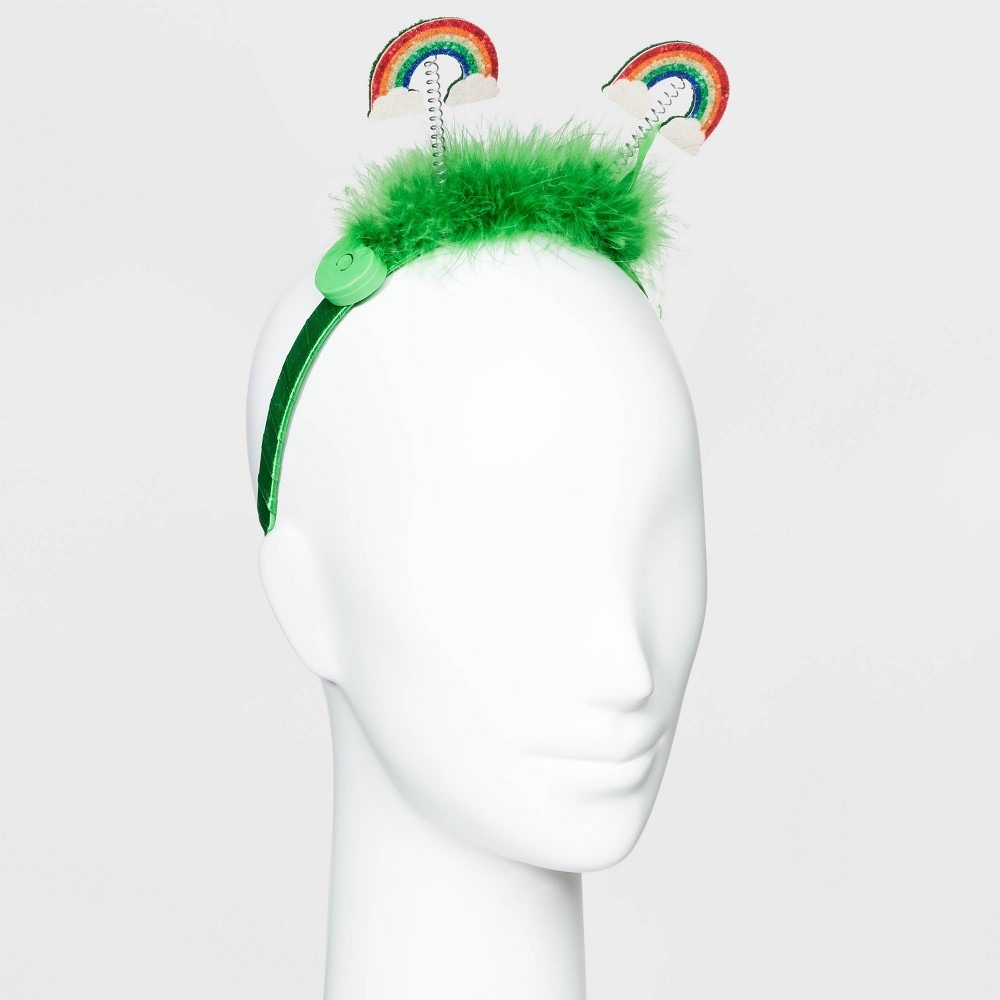St. Patrick's Day Light Up Glitter Rainbow Headband - Green was $7.99 now $5.59 (30.0% off)
