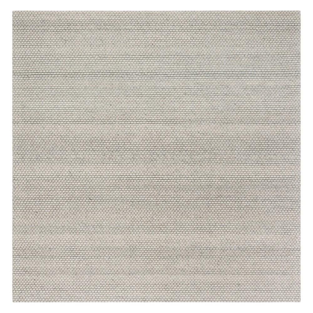 6'X6' Solid Woven Square Area Rug Gray - Safavieh