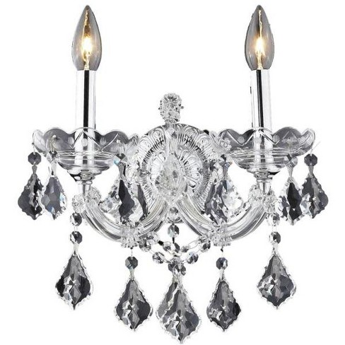 Elegant Lighting 2800W2C Maria Theresa 2-Light Crystal Wall Sconce, Finished in Chrome - image 1 of 1