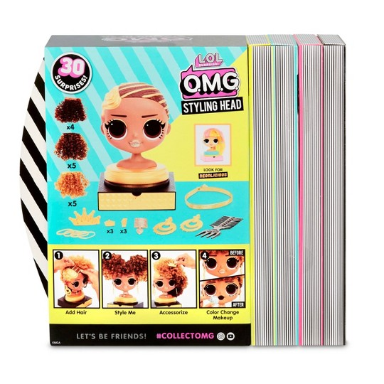 L.O.L. Surprise! O.M.G. Styling Head Royal Bee with Stick-On Hair image number null
