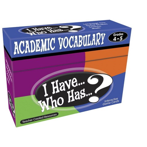 Teacher Created Resources I Have… Who Has…? Academic Vocabulary Game, Grades 4 to 5 - image 1 of 2