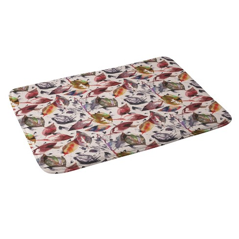 """24""""x36"""" Autumn Leaves Bath Rugs And Mats Green - Deny Designs - image 1 of 3"""