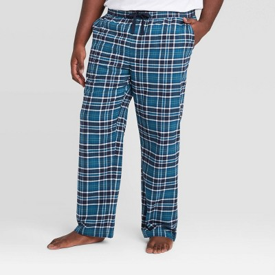 Men's Big & Tall Plaid Flannel Pajama Pants - Goodfellow & Co™ Xavier Navy