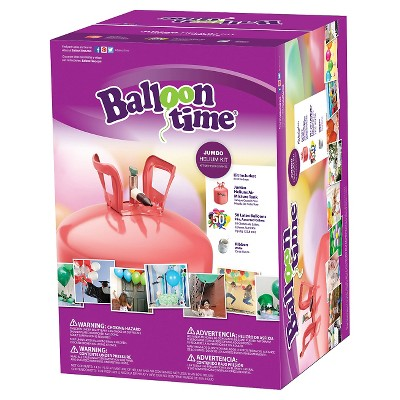 12  Jumbo Balloon Time Helium Tank