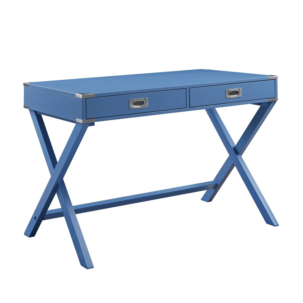 Amenia Desk  - Acme Furniture Amenia Desk Blue - Acme Furniture