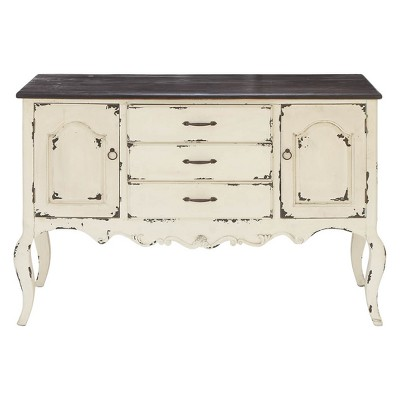Wood 2 Doors 3 Drawers Buffet White/Brown - Olivia & May