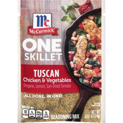 McCormick ONE Tuscan Chicken Skillet Seasoning Mix - 0.87oz