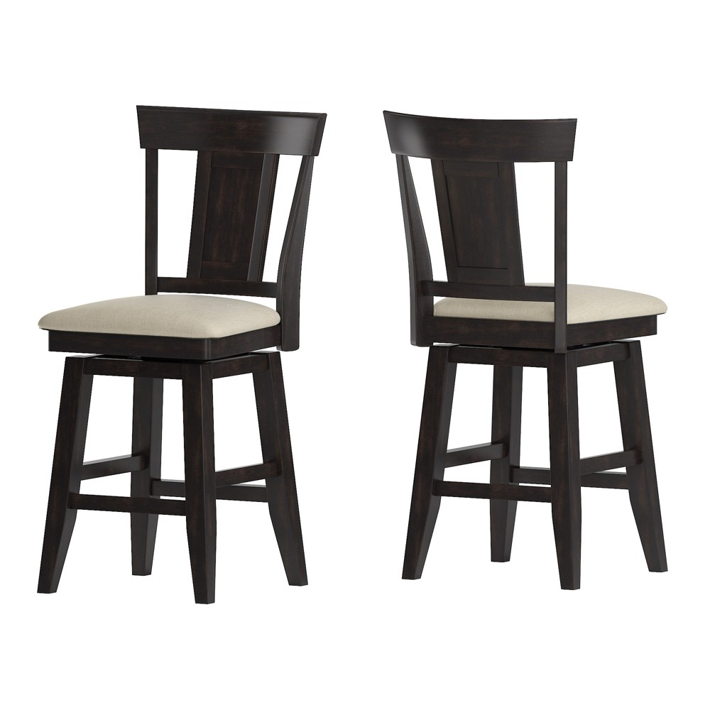 """Image of """"24"""""""" South Hill Panel Back Swivel Counter Height Chair Black - Inspire Q"""""""