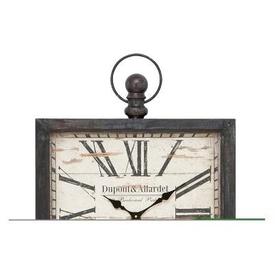 Metal Distressed Wall Clock - 32 X 24 - Olivia & May