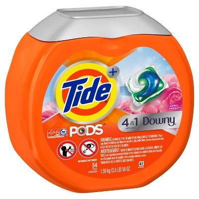 Tide April Fresh Downy Pods - 54ct