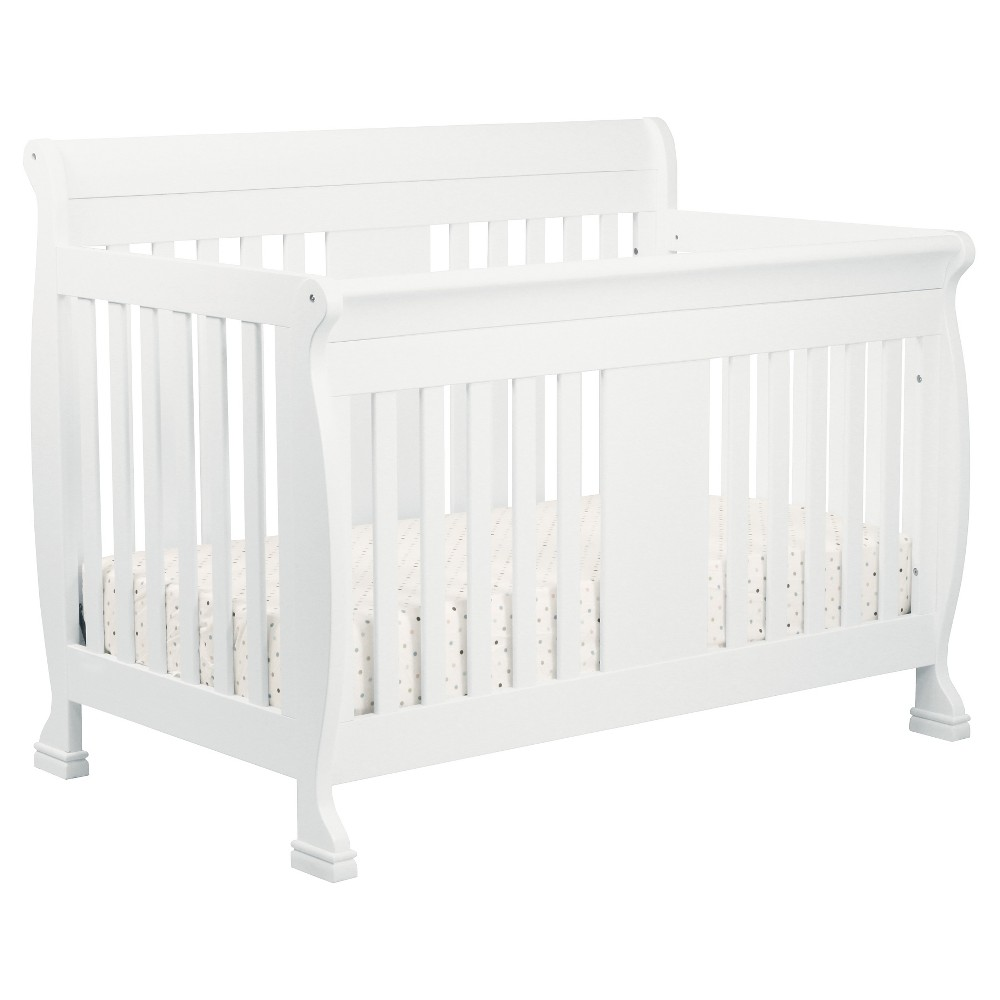 DaVinci Porter 4-in-1 Convertible Crib with Toddler Rail - White