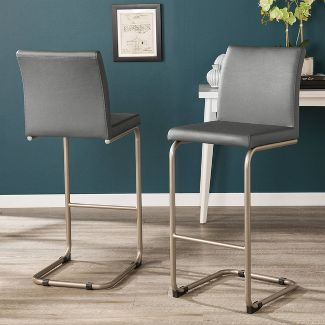 2pc Pelnett Barstools Gray - Aiden Lane