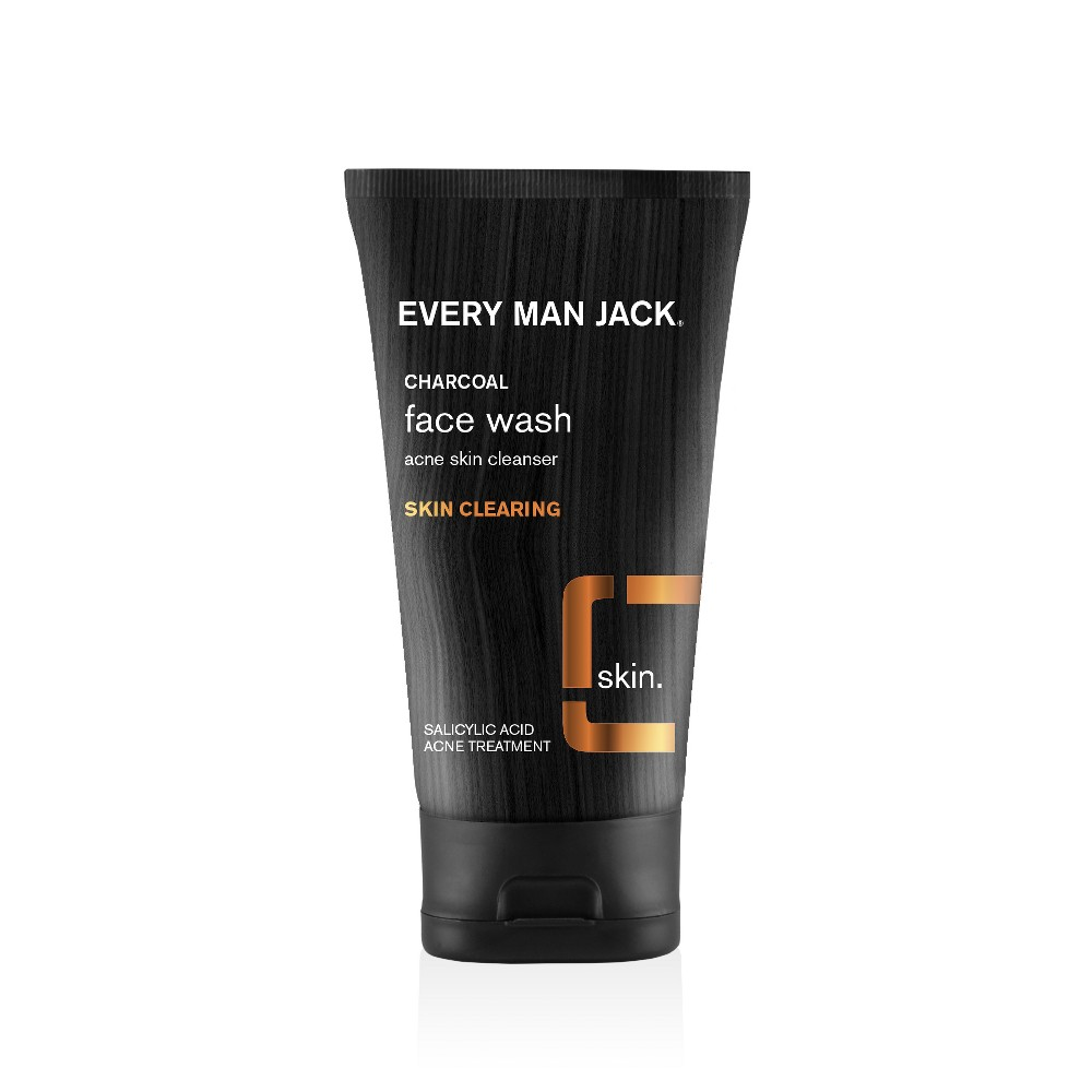 Every Man Jack Skin Clearing Activated Charcoal Face Wash - 5.0oz
