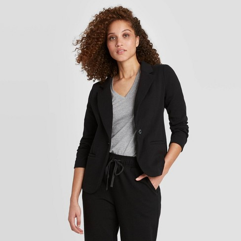 Women's Long Sleeve Knit Blazer - A New Day™ - image 1 of 3
