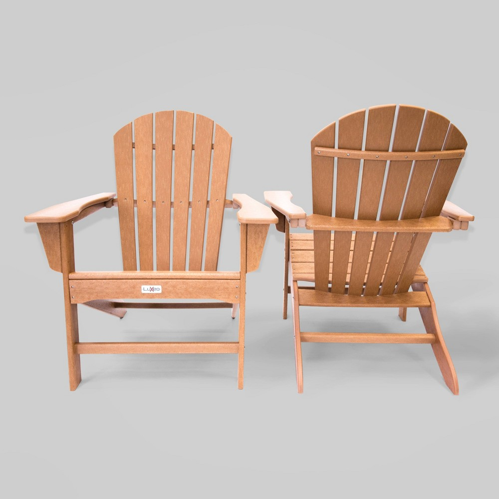 Image of 2pk Hampton Patio Adirondack Chair Teak- LuXeo