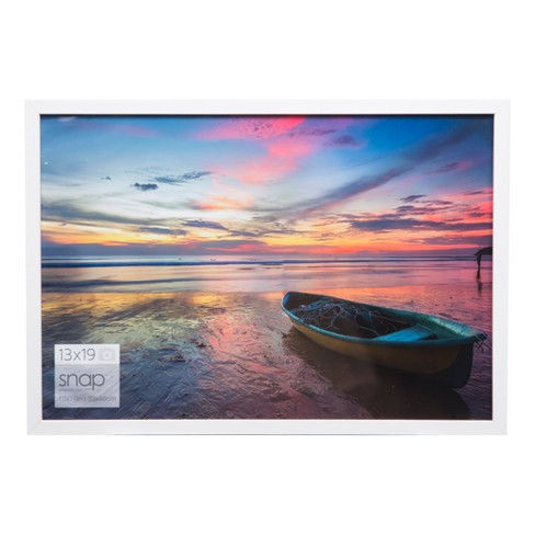 Single Image 13x19 White Wood Frame Gallery Solutions Target