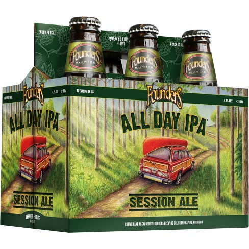 Founders All Day IPA Beer - 6pk/12 fl oz Bottles - image 1 of 3