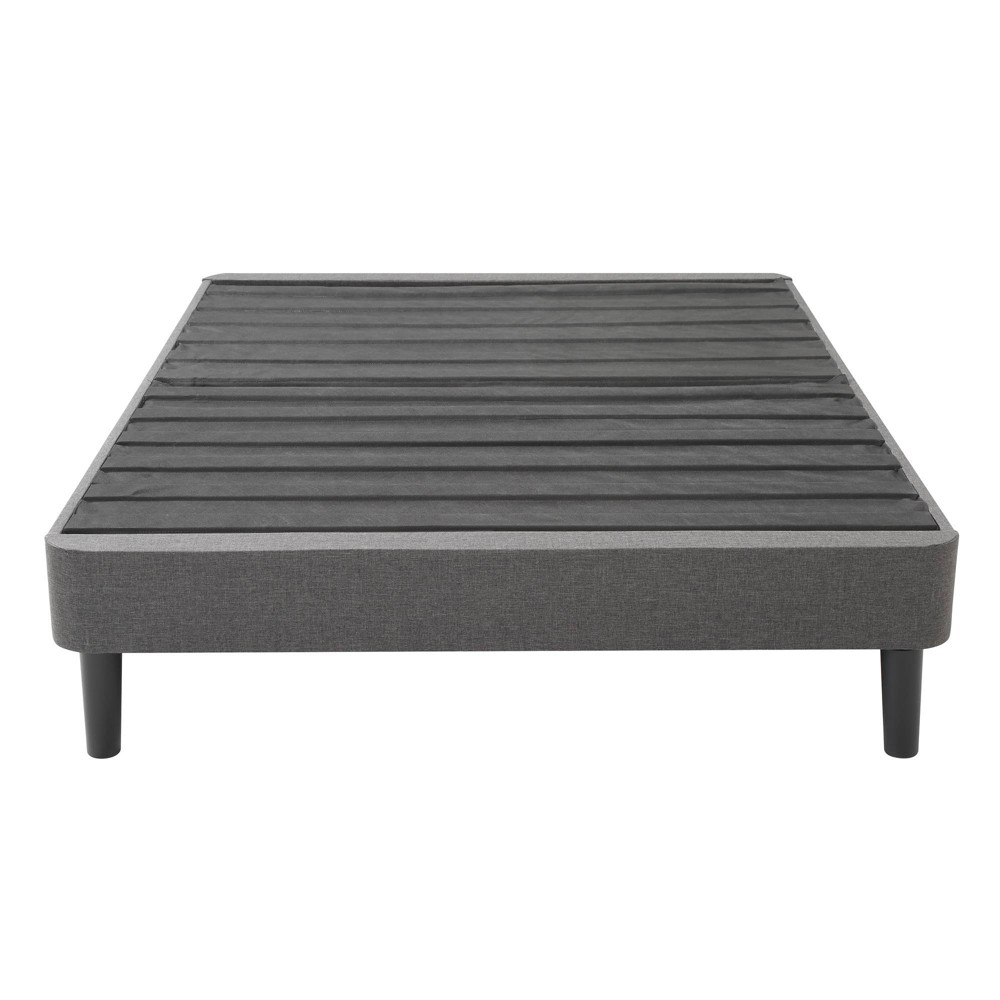 Image of California King Upholstered Platform Bed Frame with Legs - Jubilee Mattress, Gray