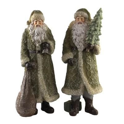 "Christmas 11.25"" Santa Set With Tree And Bag Woodland  -  Decorative Figurines"