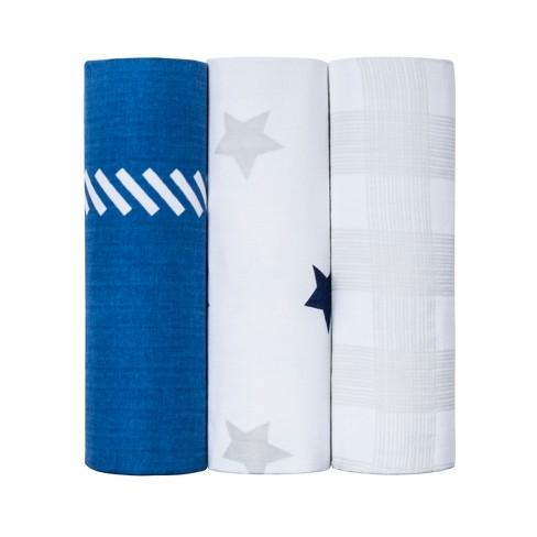 Muslin Blankets Homespun Blankets 3pk - Cloud Island™ Gray - image 1 of 2