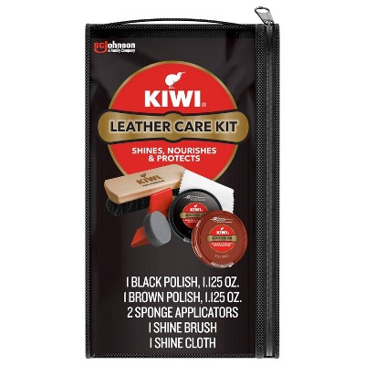 KIWI Leather Shoes Care Kit Black and Brown - 6ct