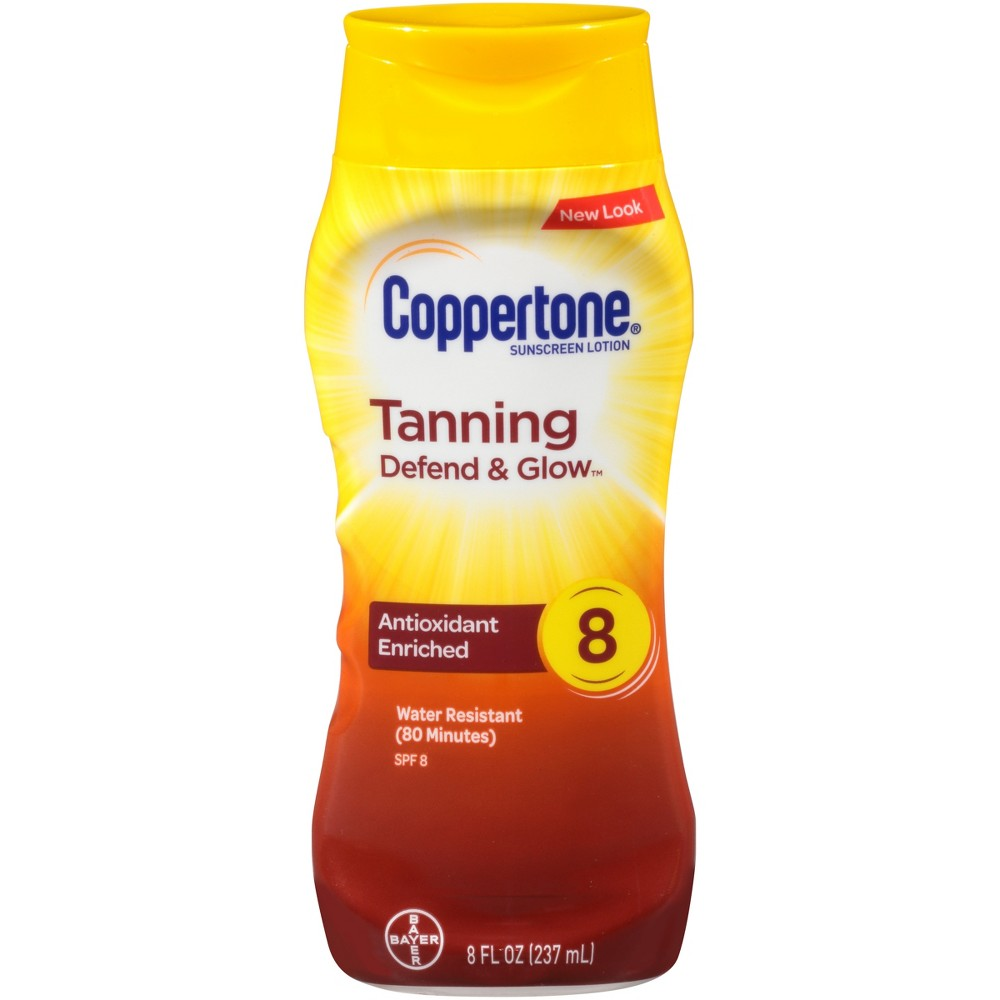 Coppertone Sunscreen Tanning Lotion - Spf 8 - 6oz
