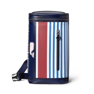Pink Whale Striped 10 Can Cooler Sling - Navy/Red - vineyard vines® for Target