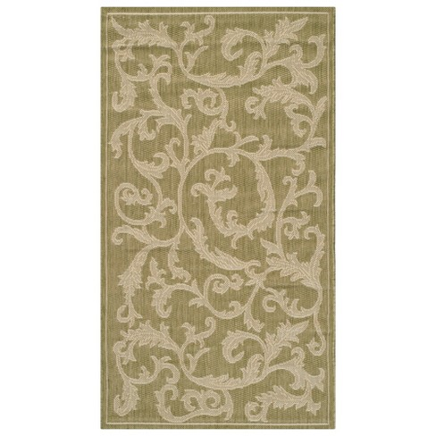 "Savoy Outdoor Rug - Brown / Natural (6'7"" X 9'6"") - Safavieh - image 1 of 1"