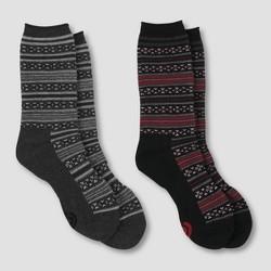 Women's Fair Isle 2pk Outdoor Crew Socks - C9 Champion®