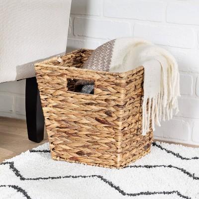 Honey-Can-Do Medium Square Water Hyacinth Basket