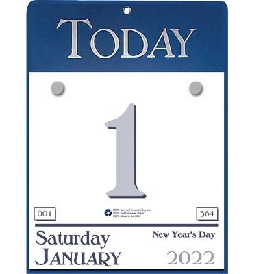 "House of Doolittle 9"" x 6.5"" Tear-Off Calendar Blue/White 310-22"
