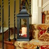 Classic Tall Metal LED Lantern With Battery Operated Candle Matte Black - LumaBase - image 3 of 3