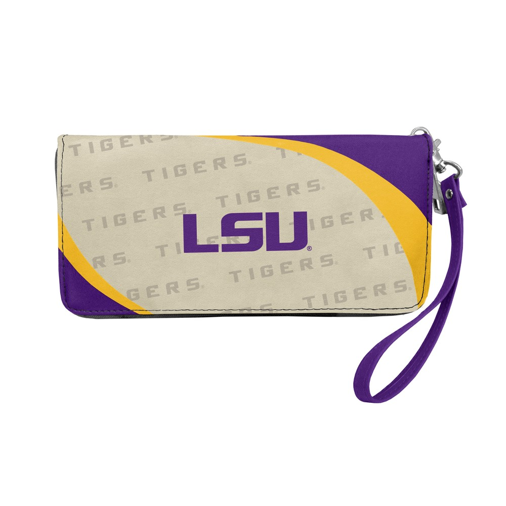NCAA Lsu Tigers Little Earth Curve Zip Organizer Wallet, Adult Unisex, Purple/Gold