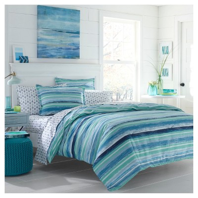 Aqua Alex Comforter Set (Full/Queen)- Poppy & Fritz