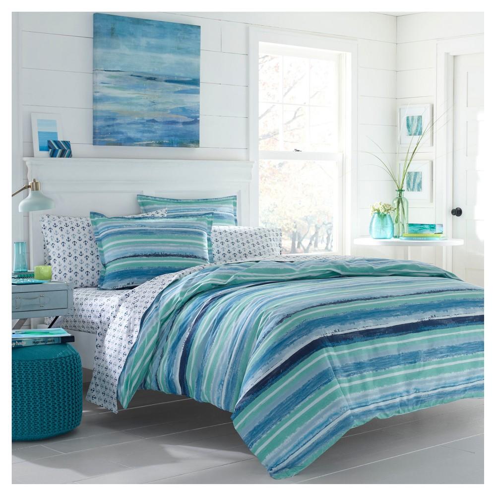 Image of Aqua Alex Comforter Set (Full/Queen) - Poppy & Fritz, Blue