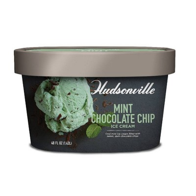 Hudsonville Creamery Mint Chocolate Chip Ice Cream - 48oz